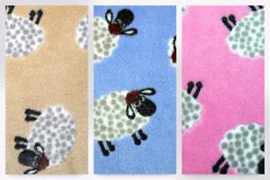 EM-426 - Mouton-M Sheep plush cuddle laine polaire tissu