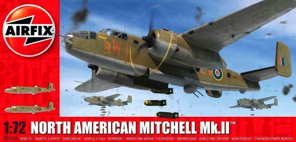 B-25 MITCHELL Mk.II - WW II BOMBER (RAF & POLISH AF MARKINGS) AIRFIX