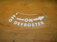 1951 1952 Chevrolet Cars And Trucks Defroster On Off Instructions Decal Sticker