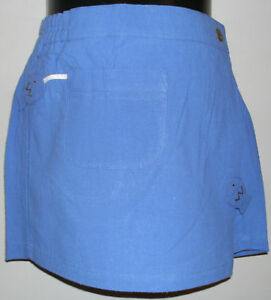 New-100-Cotton-Girls-Blue-Fashion-Skort-Skirt-Shorts-Size-Small-4-6-Years