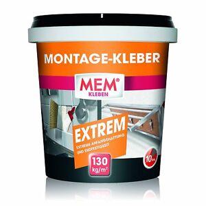 MEM-Montage-Kleber-Extrem-1-Kg-Baukleber-Klebstoff-Weis
