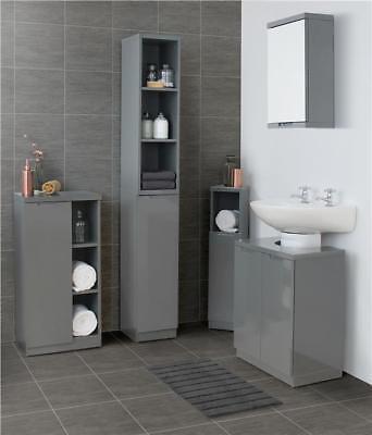 Grey Gloss Bathroom Furniture Range, Argos Home Gloss Bathroom Floor Cabinet White