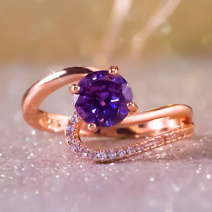 1-6ct-Round-Cut-Purple-Amethyst-Engagement-Ring-14k-Rose-Gold-Finish-Solitaire