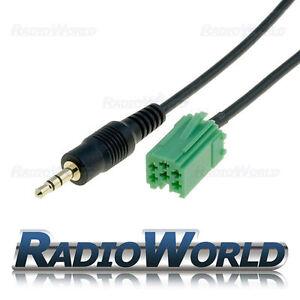 RENAULT-Clio-Aggiorna-elenco-AUX-IN-Linea-In-Adattatore-iPod-MP3-AUX-3-5-mm-GOLD-jack