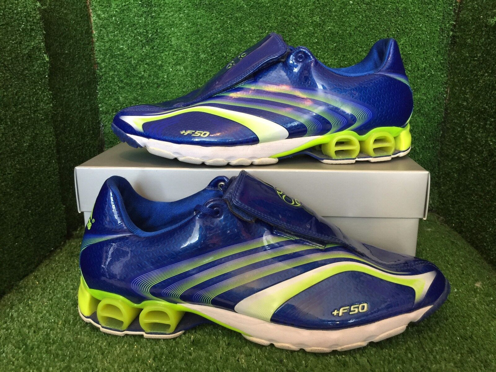 Adidas F50+ Indoor Boots Splash bluee Electric Size 11 10,5 45