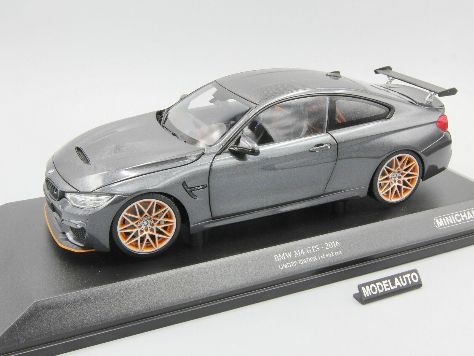 muchas concesiones Minichamps 1 18 BMW M4 M4 M4 GTS 2016 gris Metálico  Sin impuestos