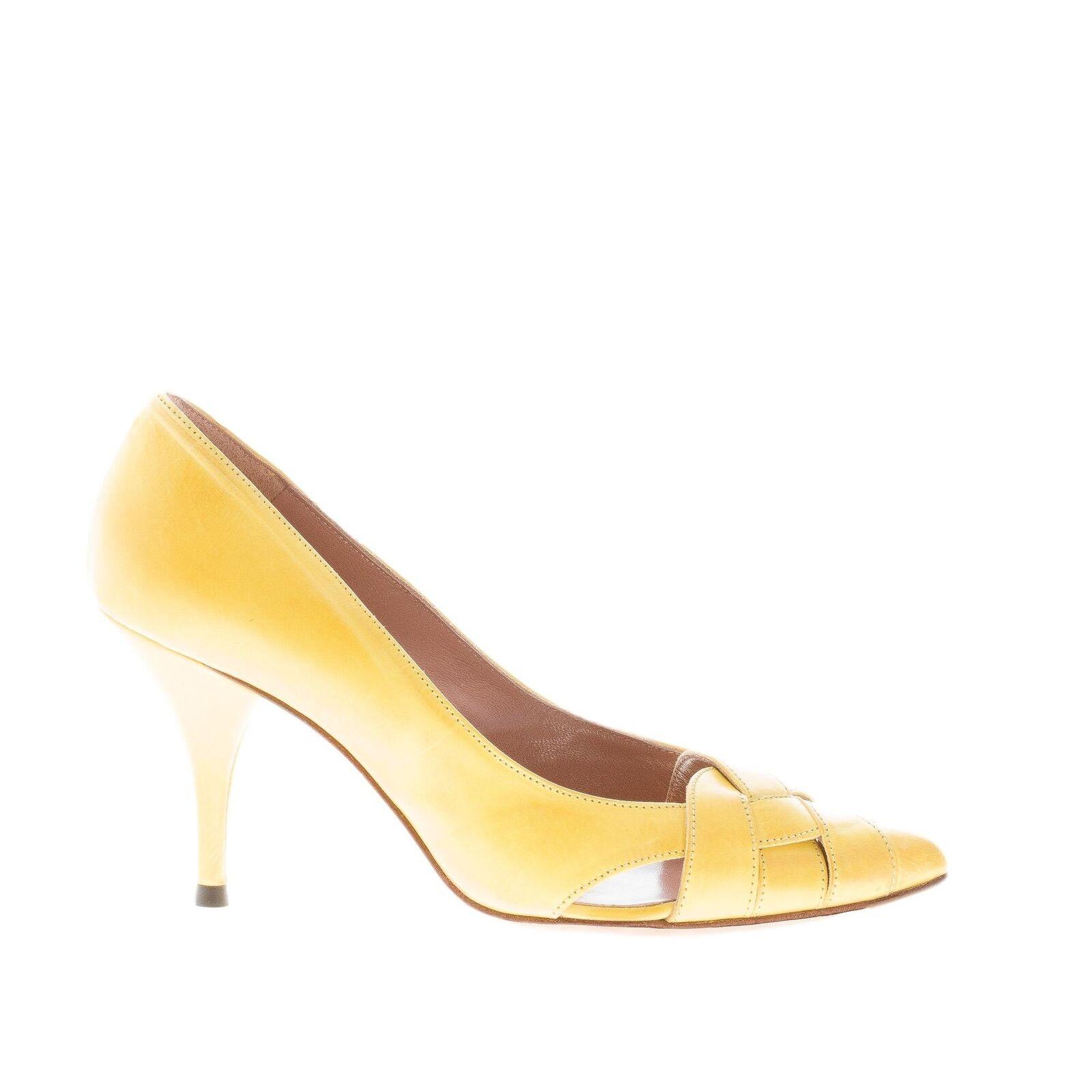 Zapatos Zapatos Zapatos de mujer autre eligió amarillo de cuero correas entrecruzadas de bomba con en el punto  Mercancía de alta calidad y servicio conveniente y honesto.