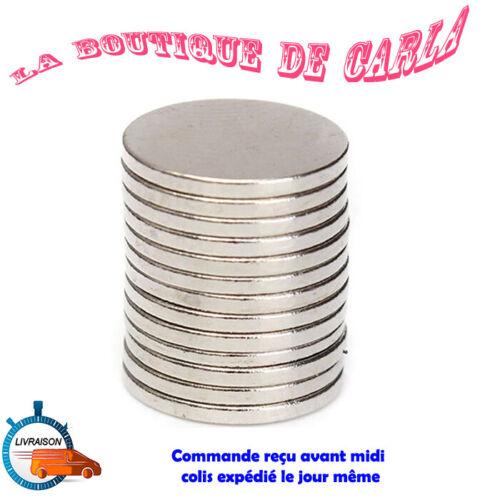 Lot 50 Aimants Neodyme Neodium Disque Rond Super Magnet N50 10mm x 1mm de France