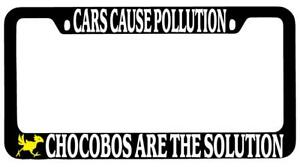 Chocobo LOGO Black Plastic License Plate Frame Auto Final Fantasy