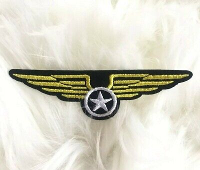 Air Force//Star//Circle//Camo Iron on Applique//Embroidered Patch Military Wings