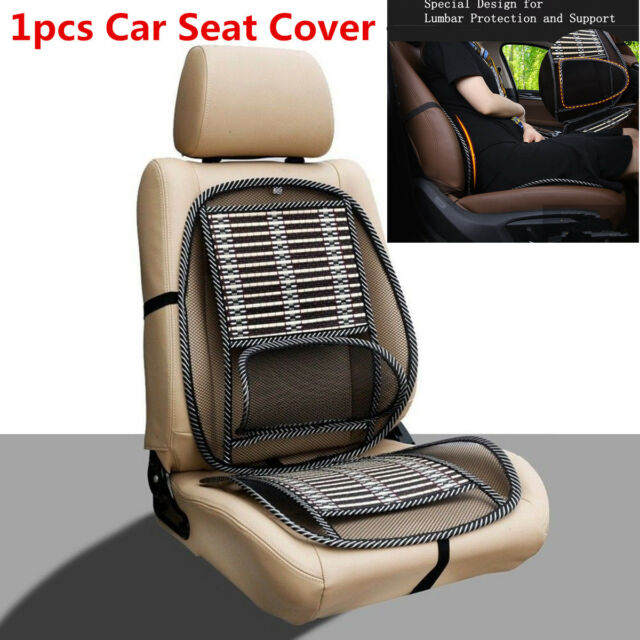 1pcs Bamboo Mesh Lumbar Back Brace Pad Car Home Seat Cover Chair Cushion Support