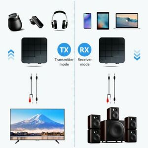 2 in1 Bluetooth 5.0 Wireless Audio Transmitter Receiver HIFI MP3 Adapter RCA AUX