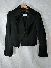 Margiela Blank Label Asymmetric Angora Blend Jacket Size 44