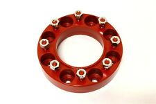"Skid Steer Wheel Spacers - Aluminum Red - 2"" Thick - 10"" Diameter - 9/16"", 8 Lug"
