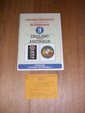 Cricket - The Ashes - 1985 5th test official Souvenir Programme and entry ticket