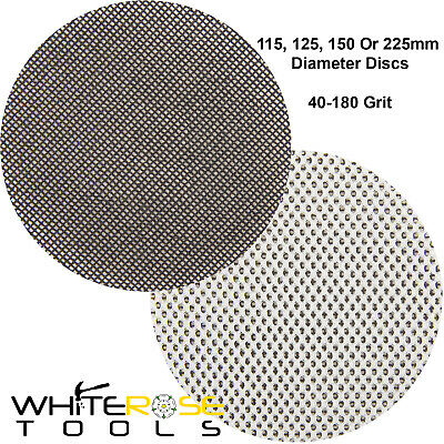 Silverline 10pc Punched Hook And Loop Sanding Discs Paper 225mm 120 Grit