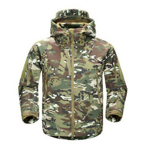 Men-039-s-Camouflage-Military-Tactical-Coat-Army-Soft-Shell-Outdoor-Jacket-Camo-Hunt