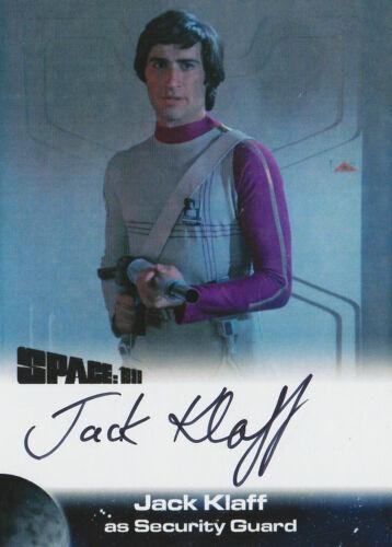 Space 1999 Autograph Trading Card JK1 Jack Klaff As Security Guard