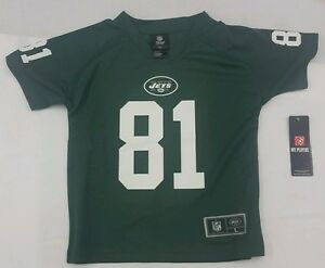 Top NFL Team Apparel New York Jets Jersey Dustin Keller #81 Green  hot sale