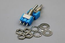 50pcs Mts 102 Blue 3 Pin 2 Position On On Mini Toggle Switch 6a 125vac