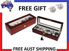 Hand Made Ebony Glass Watch Luxury Case Storage Display Box Jewellery Watches i