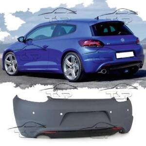 rear bumper for vw scirocco 08 14 r look spoiler body kit. Black Bedroom Furniture Sets. Home Design Ideas