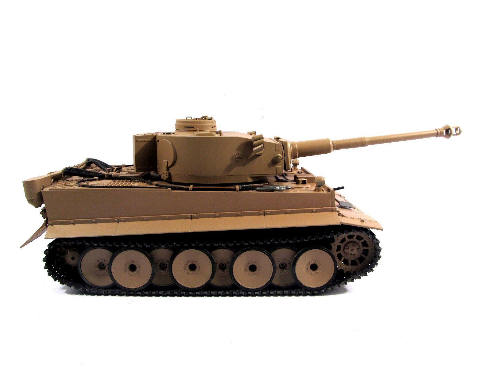 Mato 1 16 tutti  Metal Geruomo Tiger I RC Tank KIT Infrarosso gituttio Coloree modello 1220  qualità di prima classe