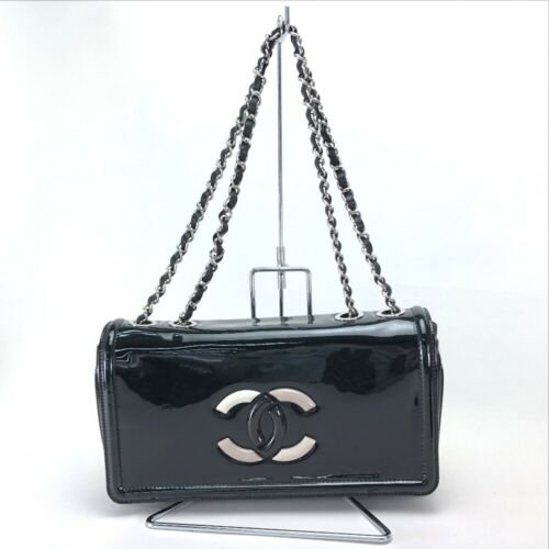 CHANEL 2010 Cruise Lipstick Shoulder Bag Black