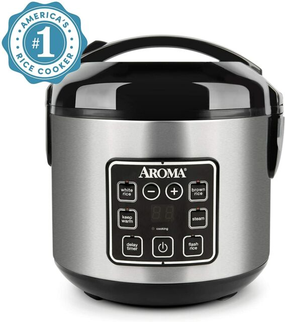 Aroma 8-Cup Programmable Rice & Grain Cooker, Steamer + FREESHIP