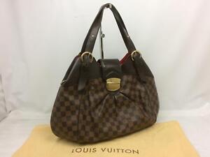 """Auth Louis Vuitton Damier Brown Sistine GM Shoulder Bag 7L190010r"""""""