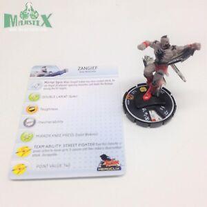Hawk #012 Uncommon figure w//card! Heroclix Street Fighter set T