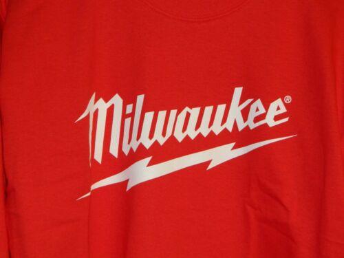M 2XL /& 3XL Milwaukee Tool Gildan adultes rouge à manches longues T-Shirt-S L XL