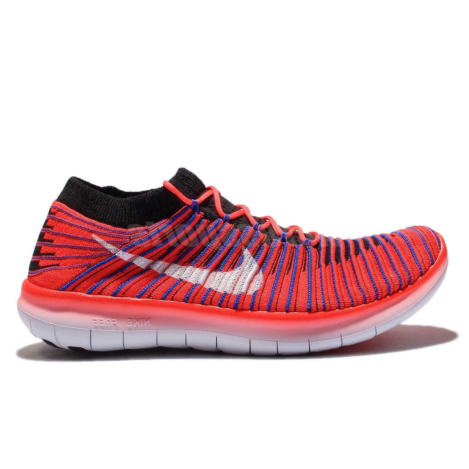 Mens NIKE FREE RN MOTION FLYKNIT Bright Crimson Trainers 834584 600