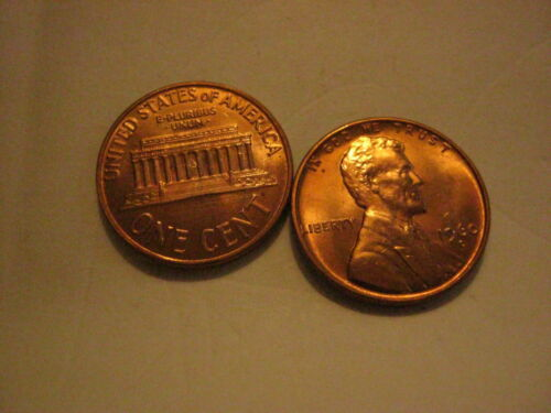 1-1960-D Small Date Lincoln Memorial Cent Penny UNC.