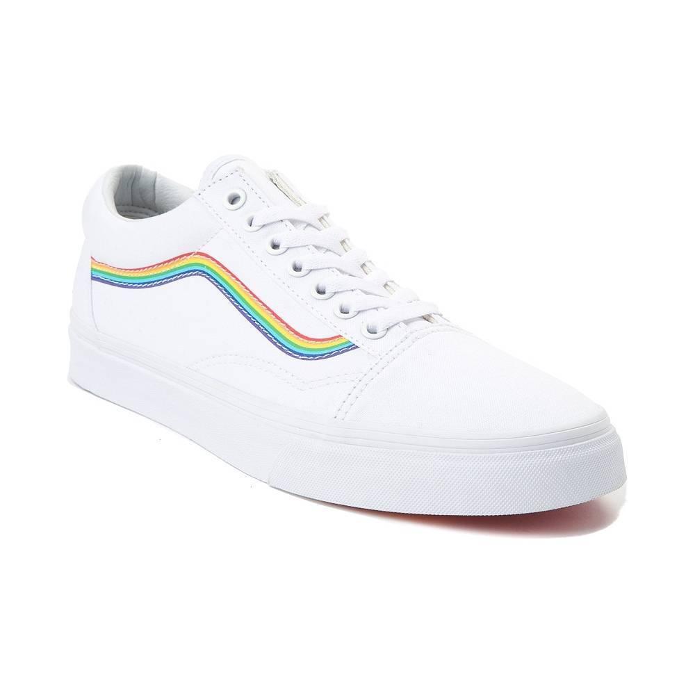 NEW Vans Old Skool Rainbow Skate Skate Skate schuhe Weiß damen Pride ed9b38