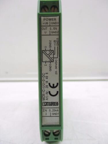 Phoenix Contact MCR-C-I//U-0-DC 2814498 Isolating Amplifier