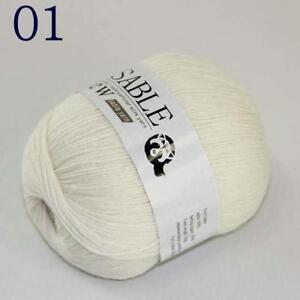 3Ballsx50g Pure Sable Cashmere Hand Knitwear Wool Shawls Soft Crochet Yarn 02