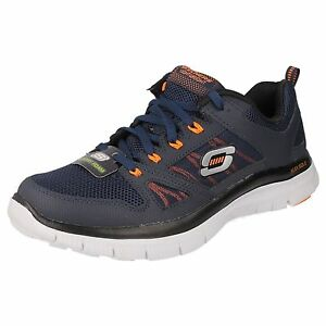 Image is loading SKECHERS-Mens-Memory-Foam-Lace-Up-Athletic-Trainers-