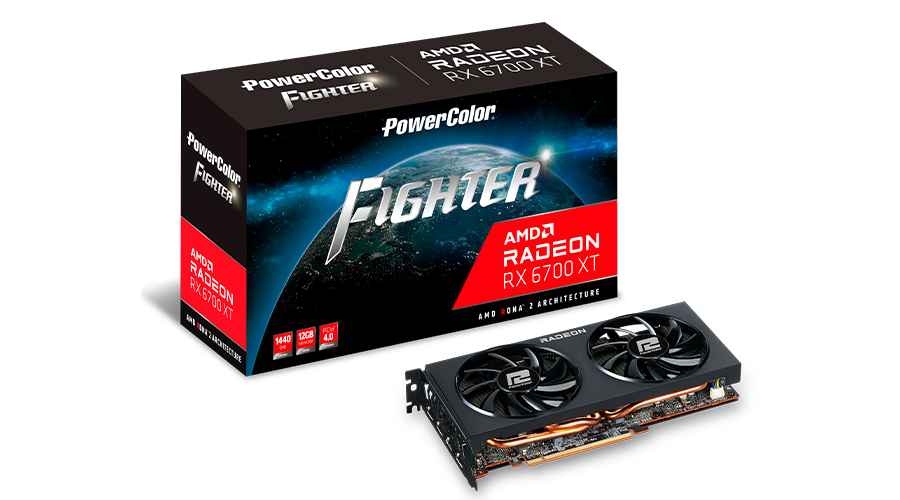 PowerColor AMD Radeon RX 6700 XT Fighter Dual-Fan 12GB GDDR6 PCIe 4.0 Graphics