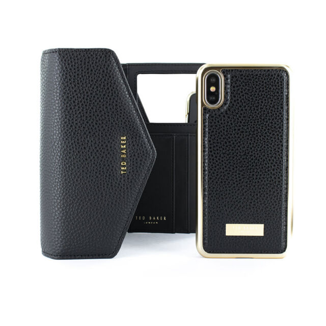 watch f6a2d 8c848 Ted Baker Luxury Party Type sELIE Crossbody Wallet Case for iPhone X/xs  Black