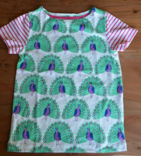 NEW MINI BODEN GIRLS SIZE 3 4 5 6 7 YEARS PEACOCK BIRD PRINT JERSEY TOP