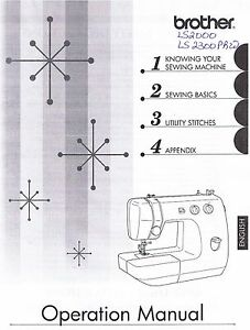 Brother Ls2000 Ls2300prw Sewing Machine Users Guide Owners Instruction Manual Ebay