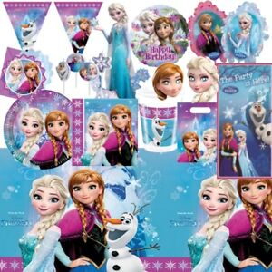 Disney-Frozen-Elsa-Anna-Party-Vaisselle-decorations-et-ballons