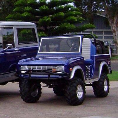 66 BRONCO -Custom Golf Cart BODY KIT fits Club Car DS-Yamaha-EZGO  w/lights/hardw | eBay