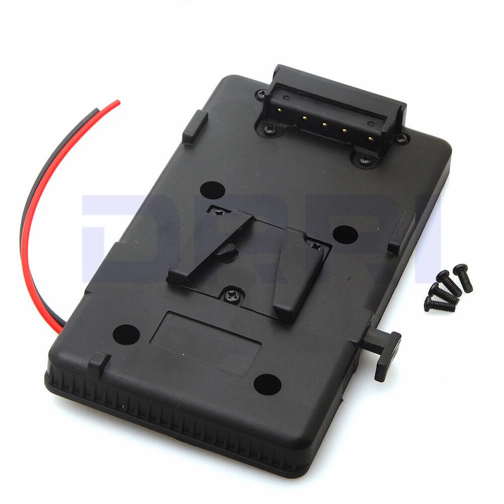 V Mount V-lock D-tap BP Battery Plate Adapter for Sony DSLR Rig External