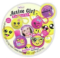 Hot Focus Active Girl Essential Lip Balm Emoji Kit Set Dress Up Slumber Party