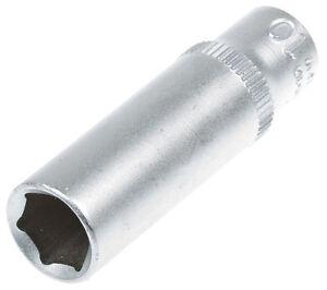 Steckschlüssel SW 14 mm 1//4 Zoll Werkzeug Kfz Stecknuß Außen Sechskant lang Nuss