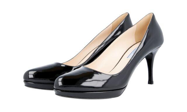 new style 91fbf 907a9 Authentic Luxury PRADA PLATEAU PUMPS Shoes 1ip268 Black 37 5 38 UK 4.5