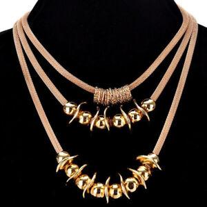 Модная подвеска ювелирные изделия бусины колье коренастый заявление нагрудник подвеска ожерелье цепь