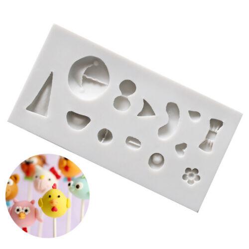 Animal Visage Sucette Moule gâteau Moule en silicone pour Bonbons Chocolat Fondant Pâtisserie